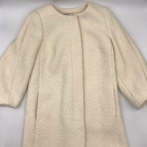 Ann Taylor LOFT White/Ivory Wool Coat size sp